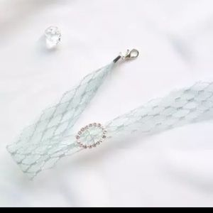 Jewelry - 2/$10 Mint green lace cz Choker necklace